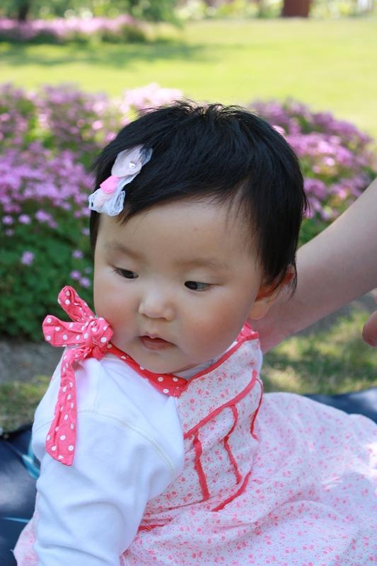 女宝贝发型_一岁女宝宝可爱发型图片