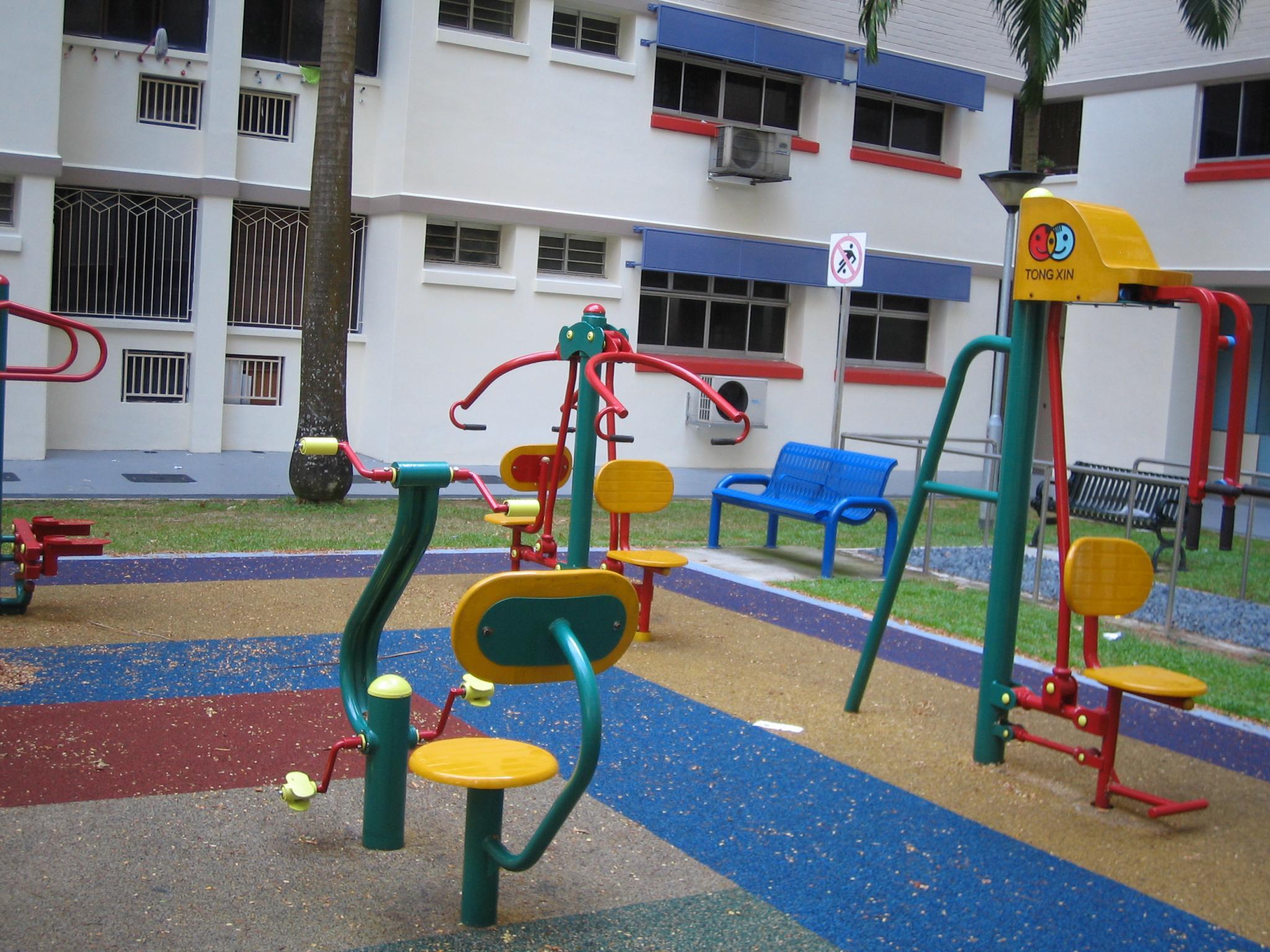 篮球场 儿童乐园