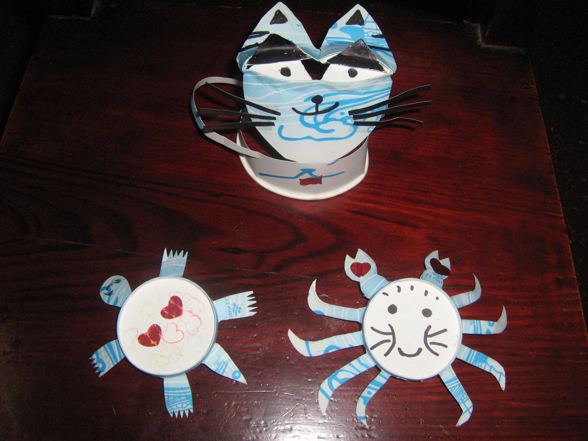 【快乐的纸杯世界】我喜欢的爱心螃蟹,爱心乌龟等