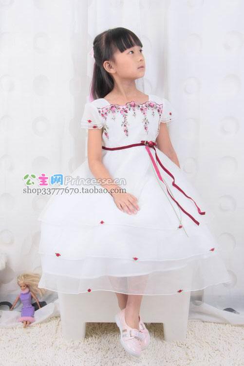 7岁儿童美公主纱裙