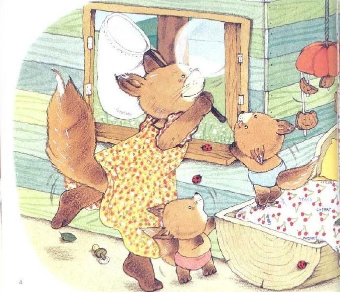 书中有趣温馨的田园生活,可爱的动物形象,都是通过丰富的绘画语言进行